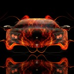 Lamborghini Murcielago Front Fire Abstract Car 2014