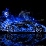 Lamborghini Sesto Elemento Fire Abstract Car 2014