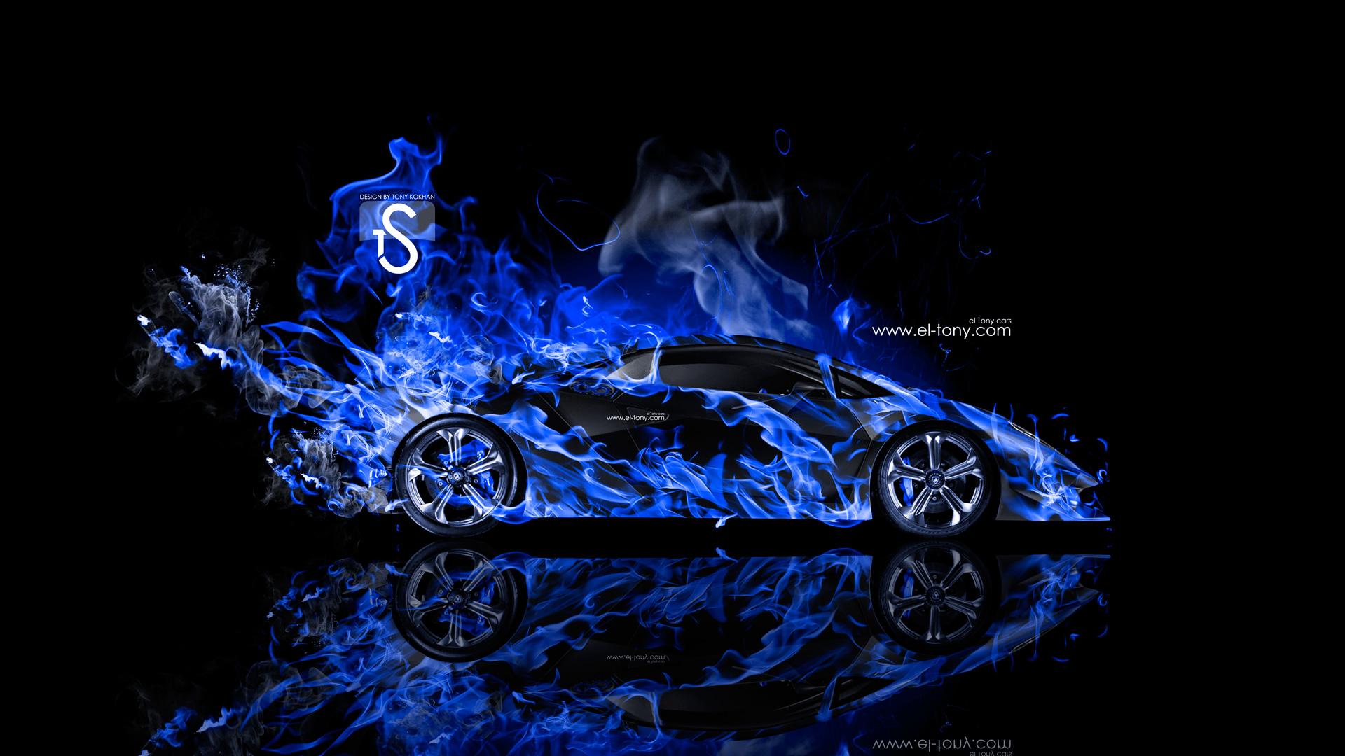Superieur Lamborghini Sesto Elemento Blue Fire Abstract Car 2014