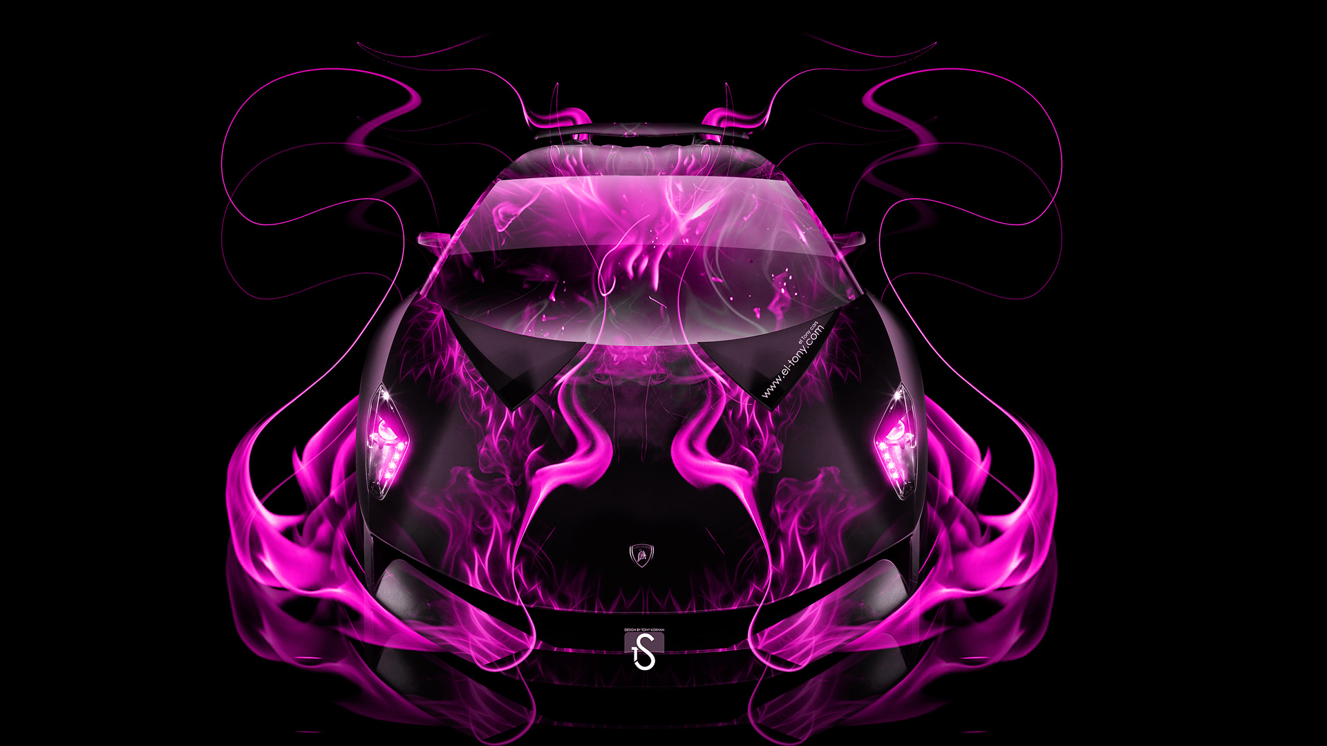 ... Lamborghini Sesto Elemento Pink Fire Abstract Car 2014