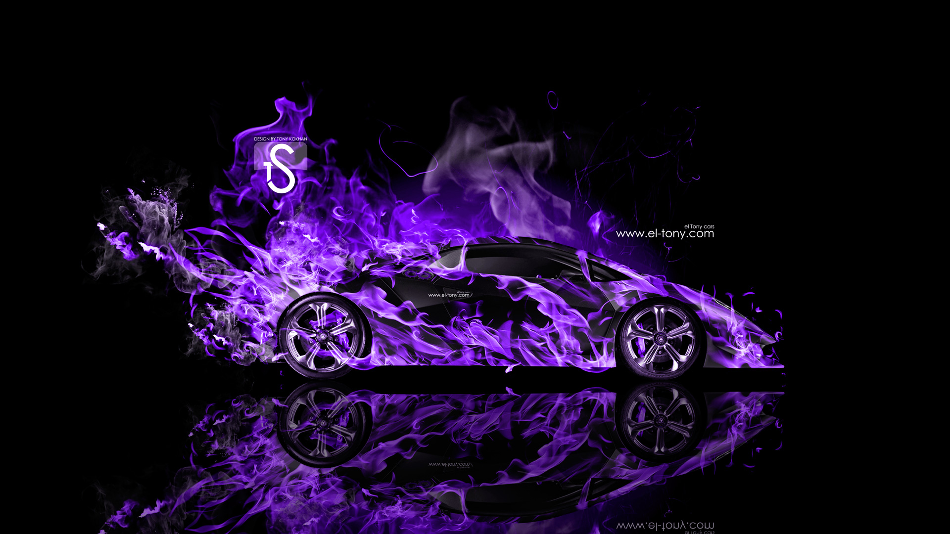Lamborghini Sesto Elemento Fire Abstract Car 2014 | el Tony