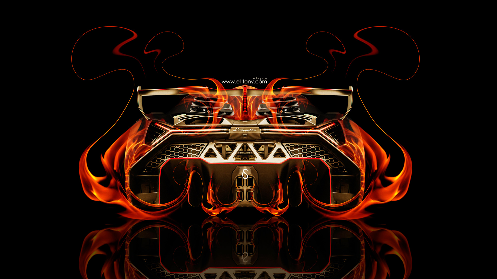 Ordinaire Lamborghini Veneno Back Fire Abstract Car 2014 HD