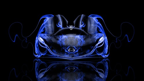 Mazda-Furai-Open-Doors-Blue-Fire-Abstract-Car-2014-HD-Wallpapers-design-by-Tony-Kokhan-[www.el-tony.com]