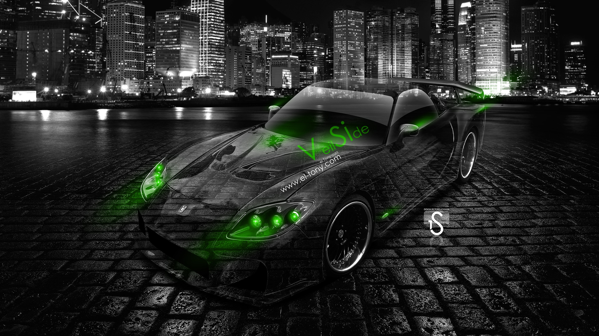 ... Mazda RX7 Veilside Bodykit JDM Green Neon Crystal  ... Photo Gallery