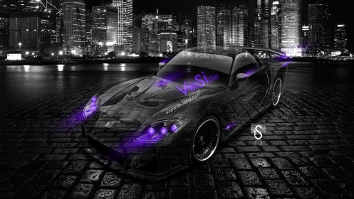 Mazda-RX7-Veilside-Bodykit-JDM-Violet-Neon-Crystal-City-Car-2014-design-by-Tony-Kokhan-[www.el-tony.com]