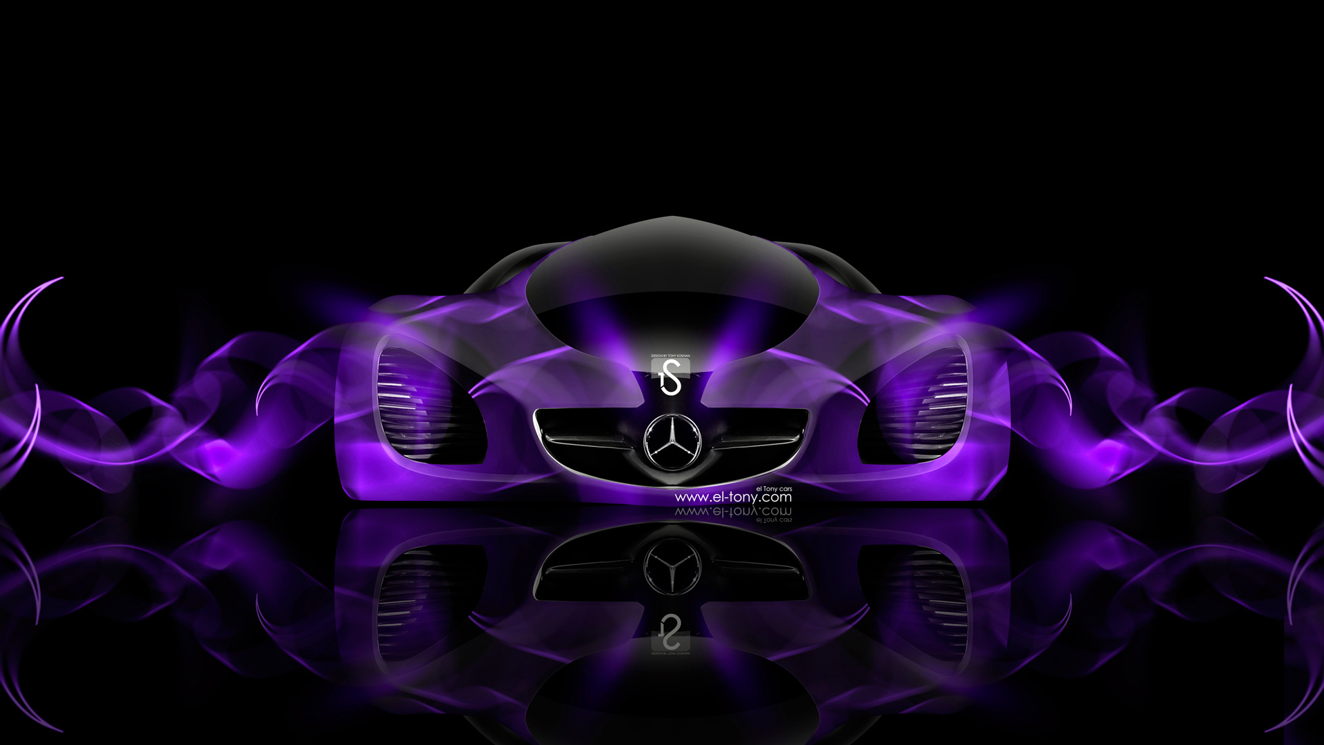 Superbe Mercedes Benz Biome Fantasy Violet Abstract Car 2014