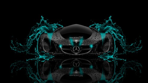 Mercedes-Benz-Biome-Fantasy-Water-Car-2014-Turquoise-Neon-design-by-Tony-Kokhan-[www.el-tony.com]