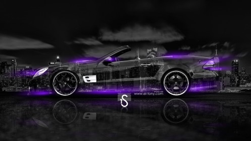 Mercedes-Benz-SL-Tuning-Crystal-City-Car-2014-Violet-Neon-HD-Wallpapers-design-by-Tony-Kokhan-[www.el-tony.com]