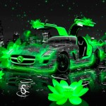 Mercedes SLS AMG Fantasy Flowers City Car 2014