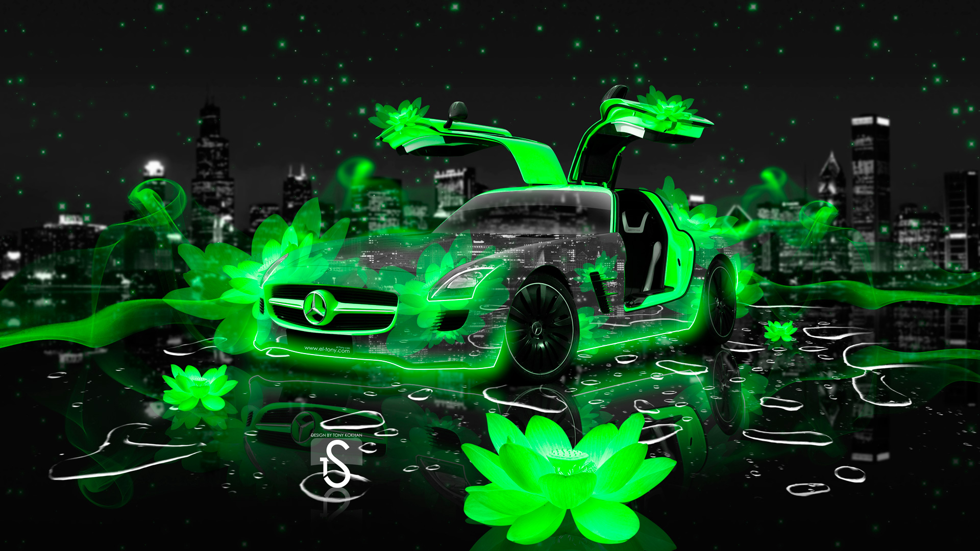 Beau Mercedes Benz F700 Fantasy Nixie Car 2014 · Mercedes SLS AMG Fantasy  Flowers City Car 2014
