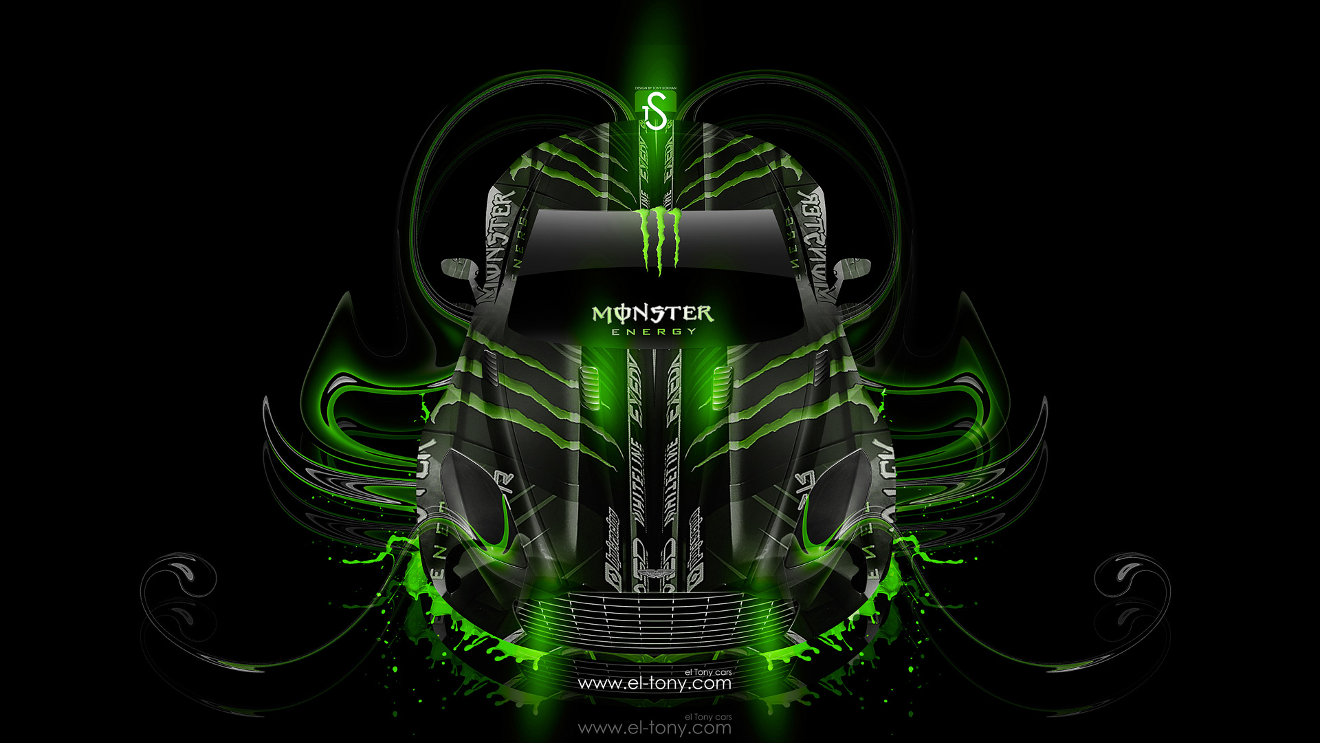 Monster Energy Aston Martin One77 Fantasy Plastic Car 2014
