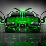 Monster Energy Bugatti Veyron Front Plastic Car 2014