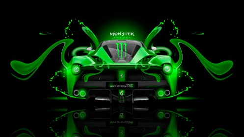 Monster-Energy-Laferrari-Fantasy-Green-Plastic-Car-2014-design-by-Tony-Kokhan-[www.el-tony.com]