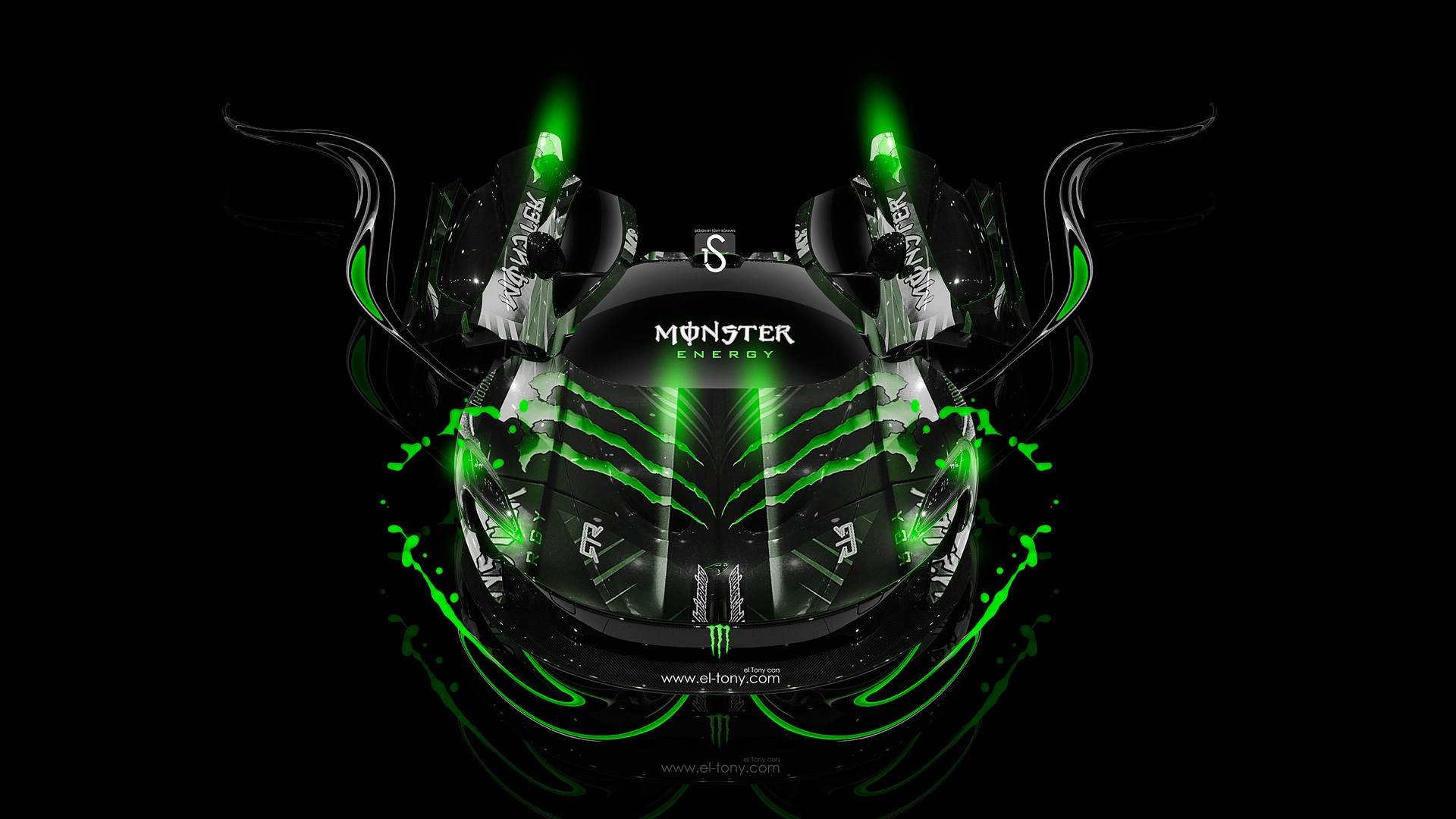 Genial Monster Energy McLaren P1 Front Up Fantasy Plastic Car 2013