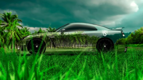 Nissan-GTR-Crystal-Nature-Car-2014-HD-Wallpapers-design-by-Tony-Kokhan-[www.el-tony.com]