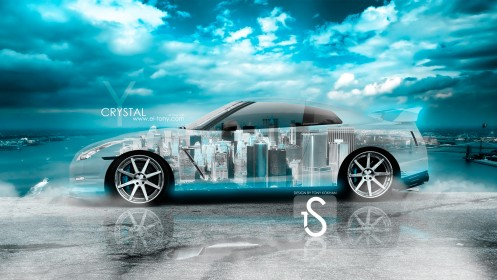 Nissan-GTR-R35-Crystal-Sky-City-Car-2014-HD-Wallpapers-design-by-Tony-Kokhan-[www.el-tony.com]