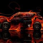 Nissan Juke-R Fire Abstract Car 2014
