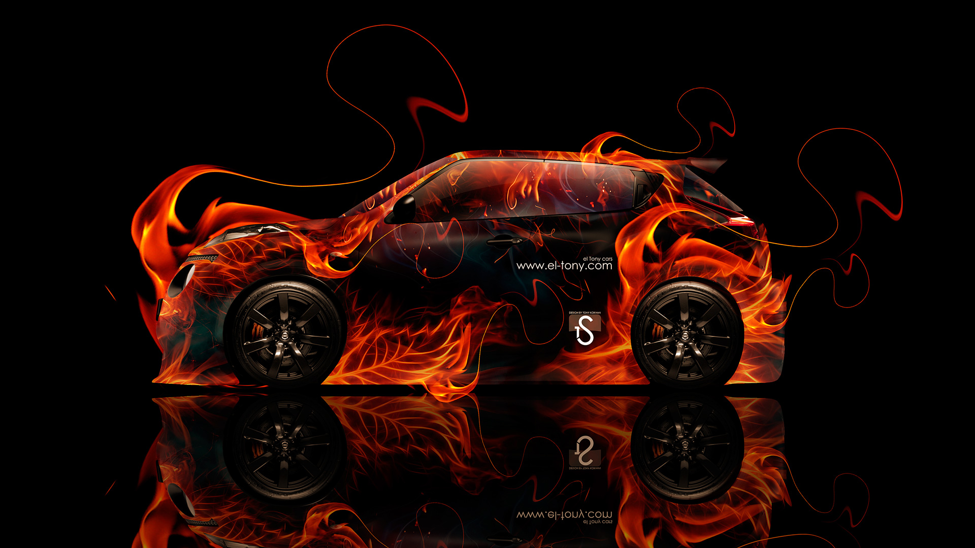 Nissan-Juke-R-Fire-Abstract-Car-2014-HD-Wallpapers-design-by-Tony-Kokhan-[www.el-tony.com]