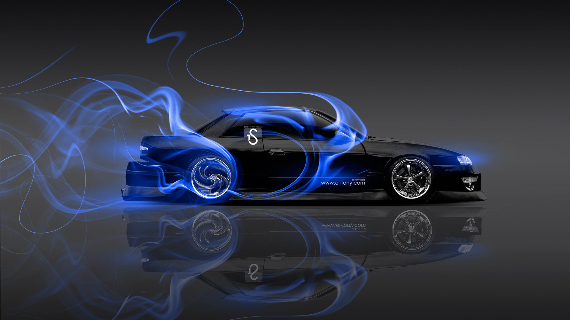 Charming Nissan Silvia S13 JDM 240SX Blue Smoke Drift