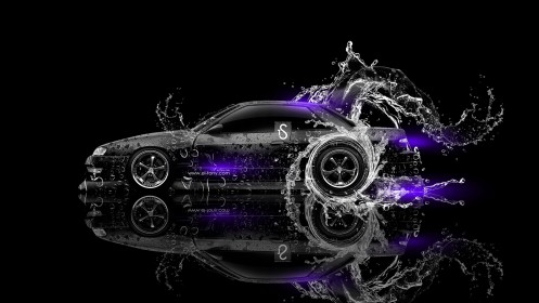 Nissan-Silvia-S13-JDM-240SX-Water-Drift-Car-2013-Violet-Neon-design-by-Tony-Kokhan-[www.el-tony.com]