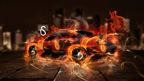 Nissan-Silvia-S15-Fire-City-Car-2014-HD-Wallpapers-design-by-Tony-Kokhan-[www.el-tony.com]