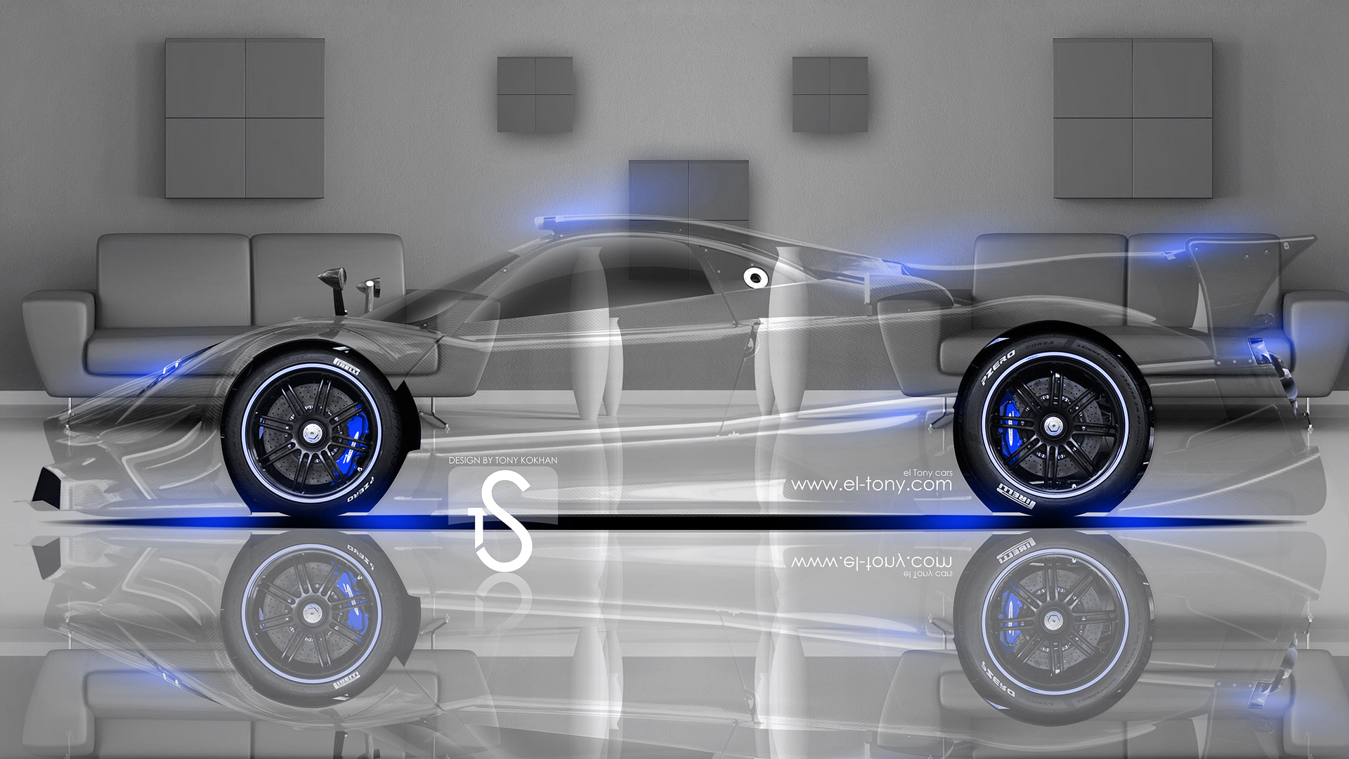 Beau Pagani Zonda Revolucion Crystal Home Car 2014 Blue  ...