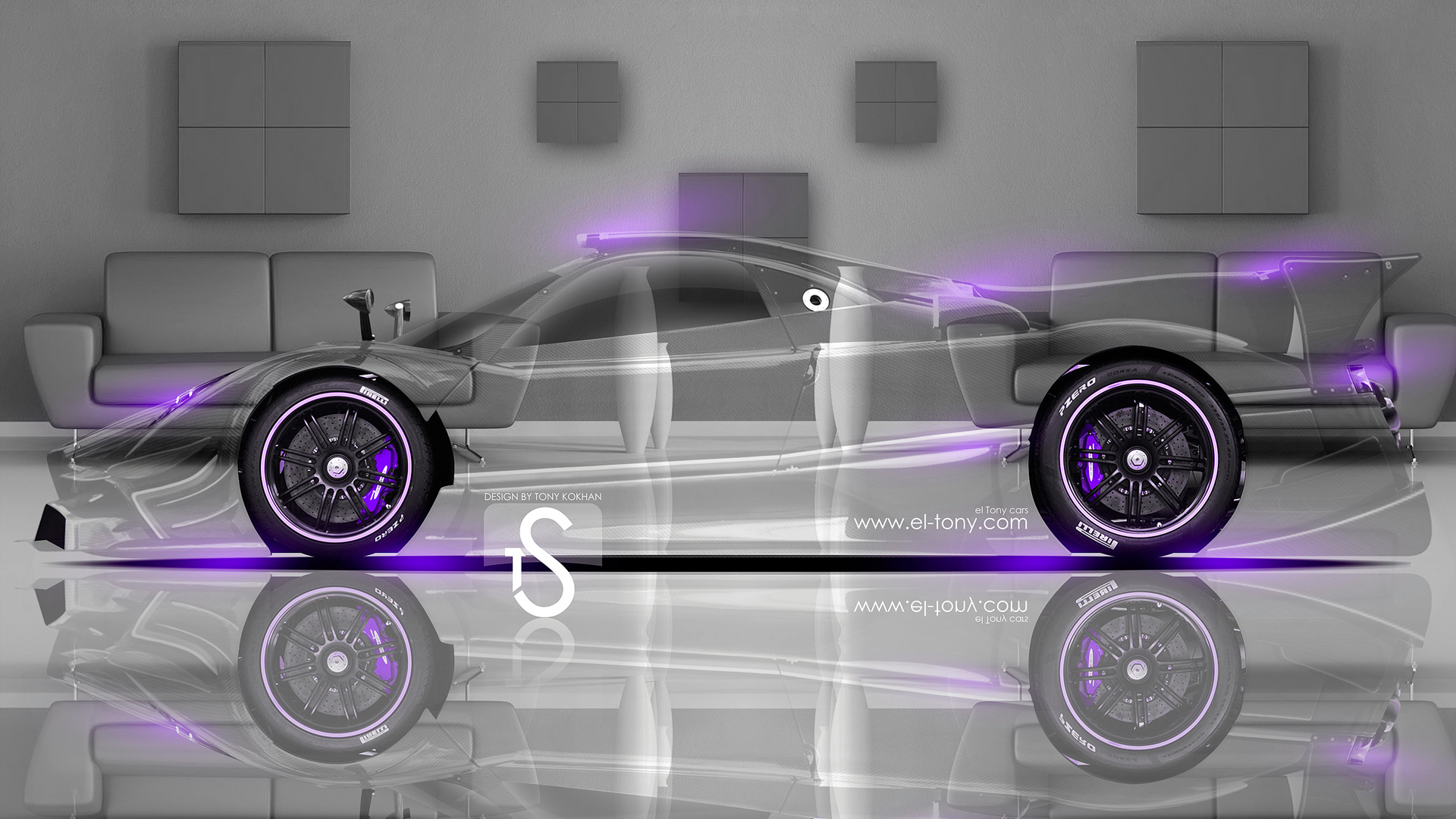 Incroyable Pagani Zonda Revolucion Crystal Home Car 2014 Violet