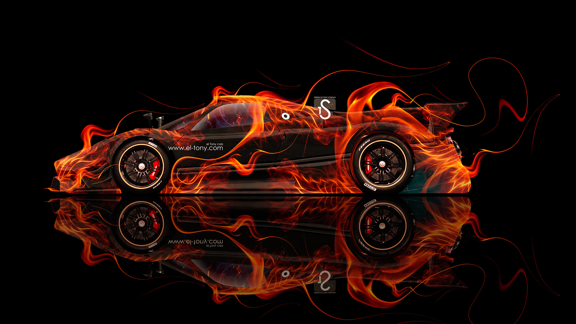 Exceptionnel Pagani Zonda Revolucion Fire Abstract Car 2014 HD