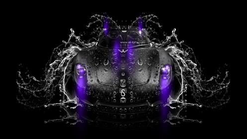 Porsche-918-Spyder-Super-Water-Car-2014-Violet-Neon-HD-Wallpapers-design-by-Tony-Kokhan-[www.el-tony.com]