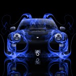 Porsche Fire Abstract Car 2014