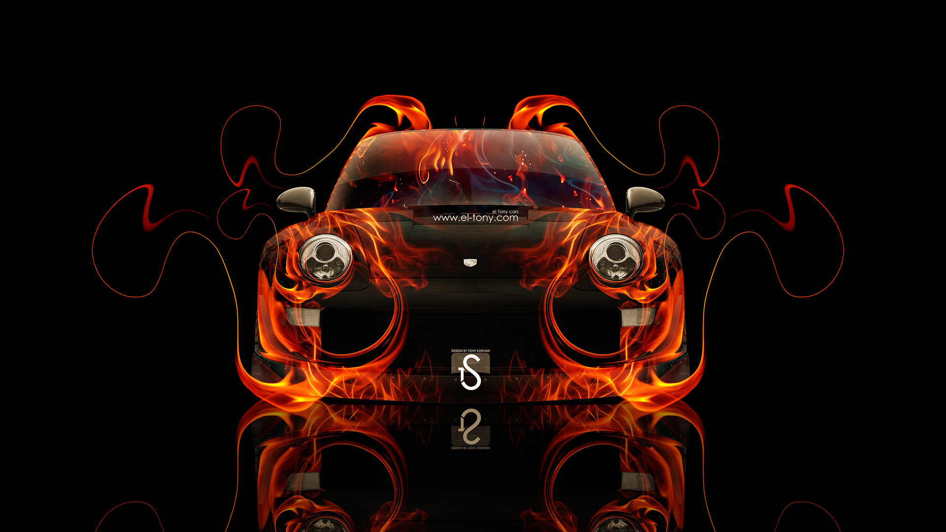 Porsche Fire Abstract Car 2014 HD Wallpapers Design .