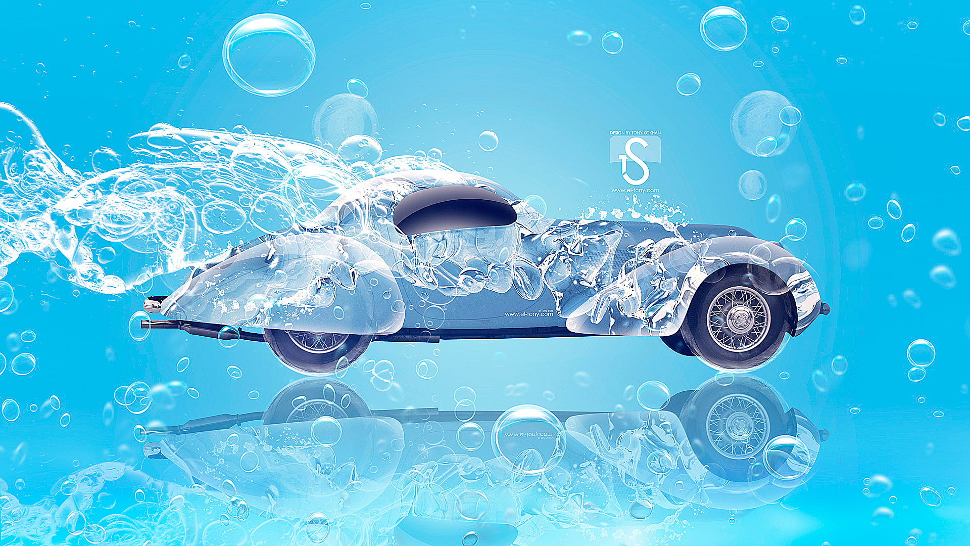 Water Design Wallpaper : Retro water car el tony