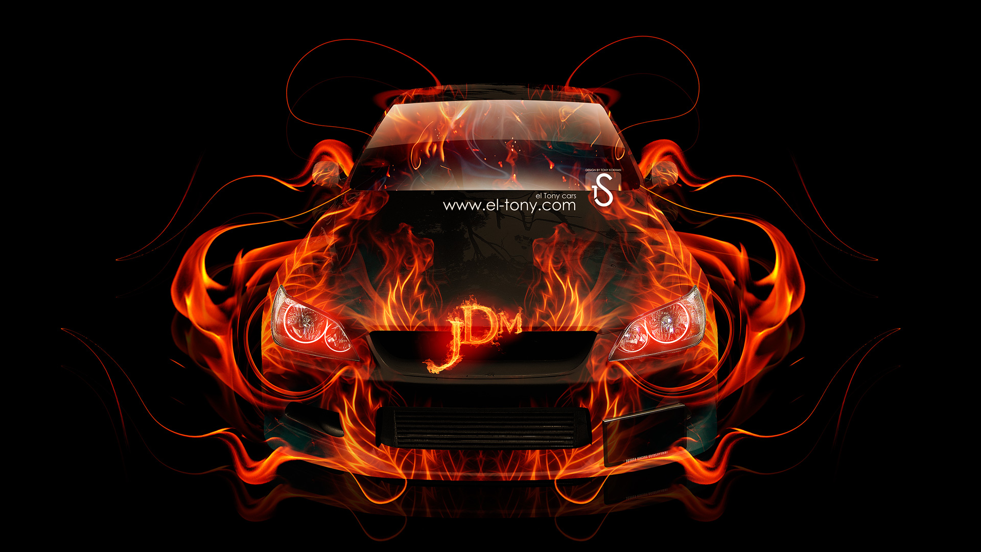 Toyota Altezza JDM Fire Abstract Car 2014
