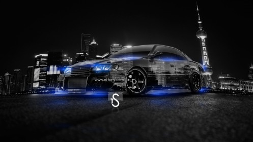 Toyota-Chaser-JZX100-JDM-Crystal-City-Car-2014-Blue-Neon-design-by-Tony-Kokhan-[www.el-tony.com]