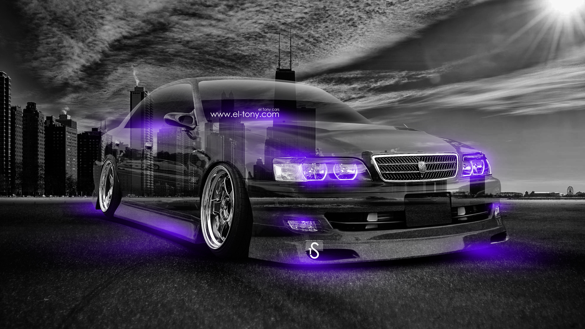 Beautiful Toyota Chaser JZX100 JDM Crystal City Day Car