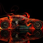 Toyota FT-1 Fire Abstract Car 2014