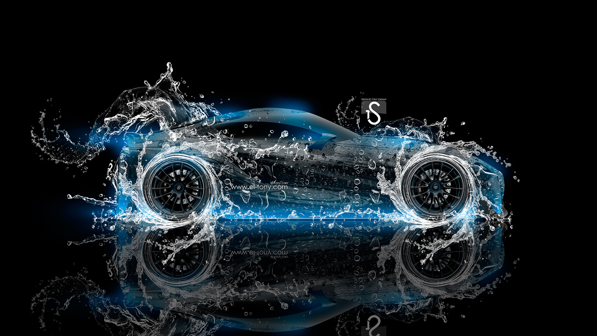 Toyota FT 1 Water Abstract Car 2014 Blue  Design