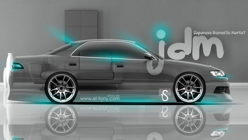 Toyota-Mark-2-JZX90-JDM-Style-Crystal-Home-Car-2014-Azure-Neon-design-by-Tony-Kokhan-[www.el-tony.com]