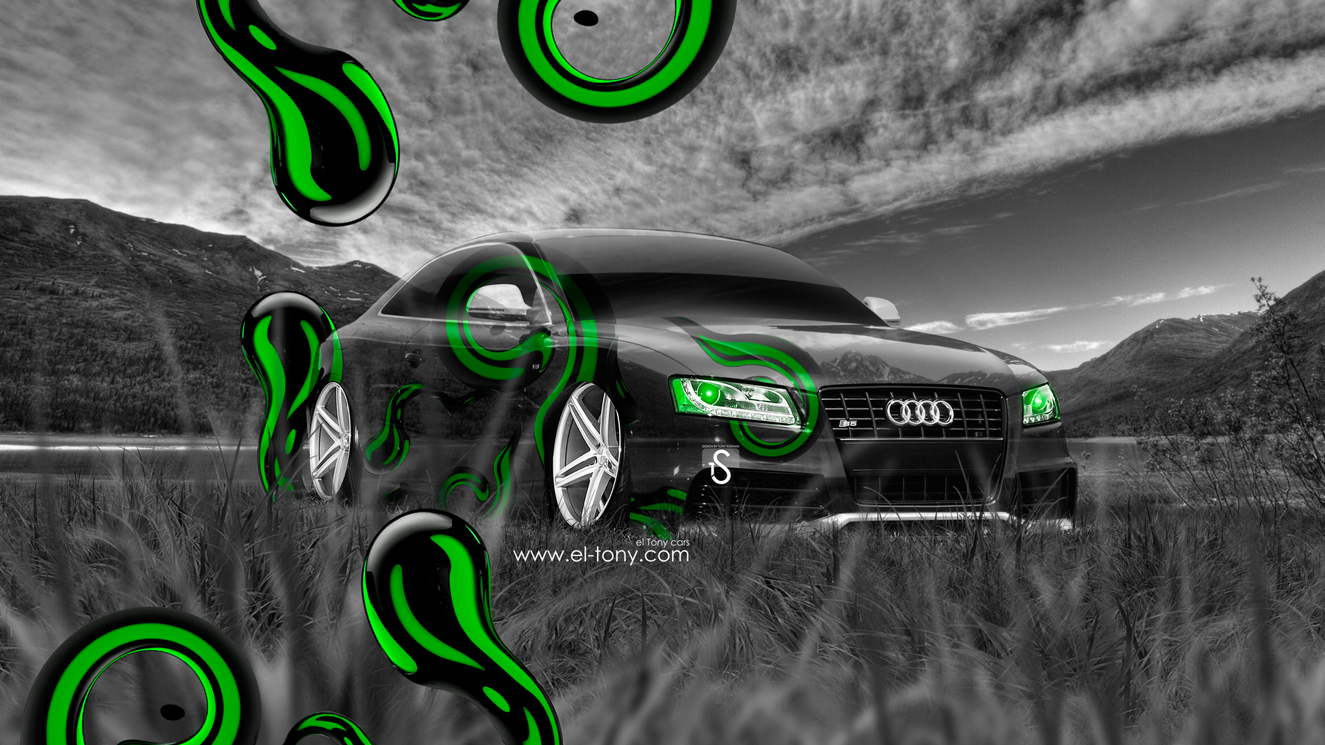 ... Audi S5 Crystal Nature Car 2014 Green Effects  ...