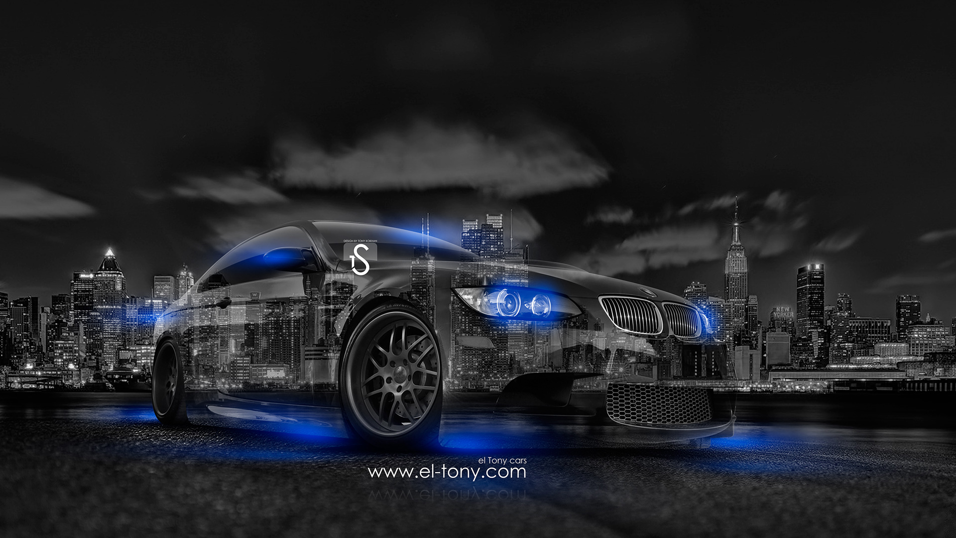 BMW E92 Crystal City Car 2014 Blue Neon  ... Amazing Pictures