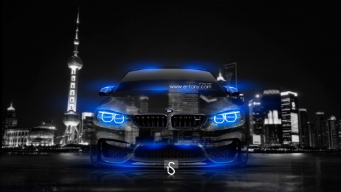 BMW-M4-Crystal-City-Car-2014-HD-Wallpapers-Blue-Neon-design-by-Tony-Kokhan-[www.el-tony.com]