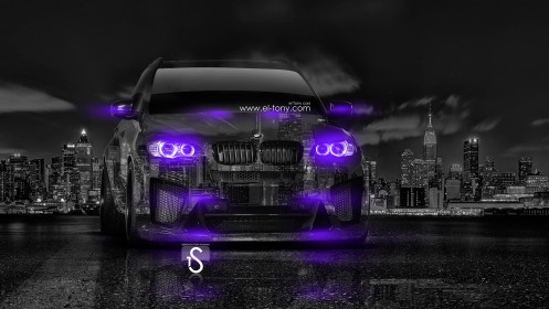 BMW-X5M-Violet-Neon-Crystal-City-Car-2014-HD-Wallpapers-design-by-Tony-Kokhan-[www.el-tony.com]