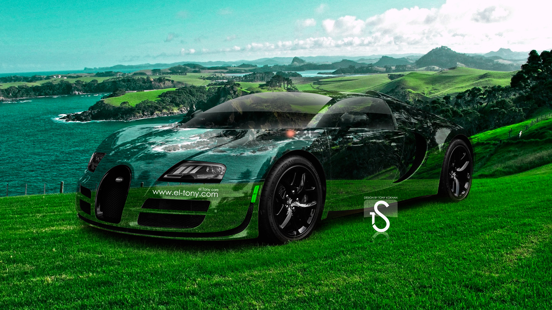 Bugatti Veyron Crystal Nature Sea Car 2014