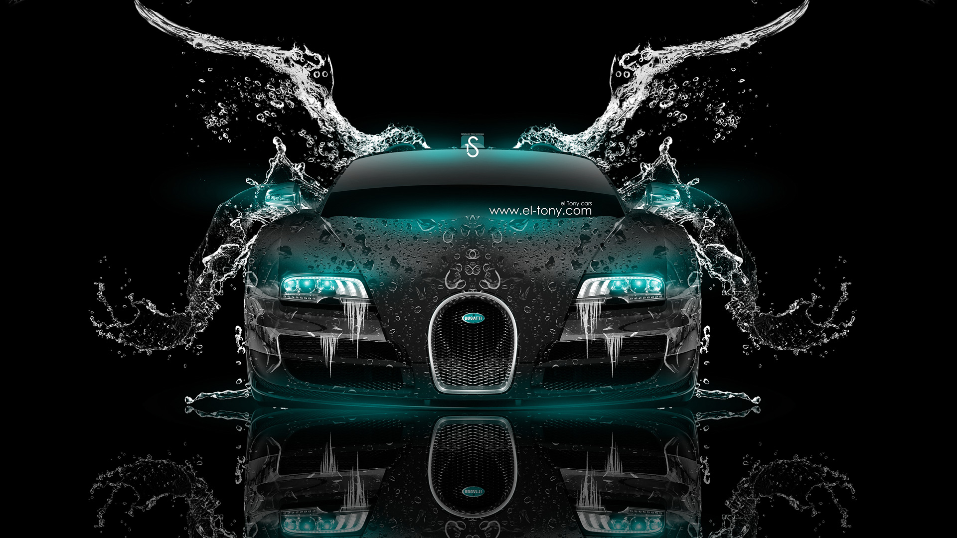 Perfect Bugatti Veyron Up Crystal City Car 2014 · Bugatti Veyron Front Water Car  2014