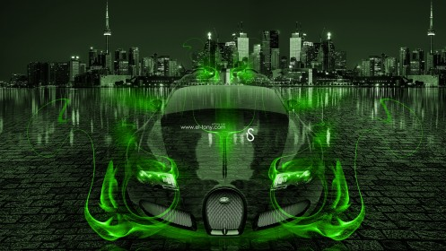 Bugatti-Veyron-Green-Fire-Crystal-City-Car-2014-HD-Wallpapers-design-by-Tony-Kokhan-[www.el-tony.com]
