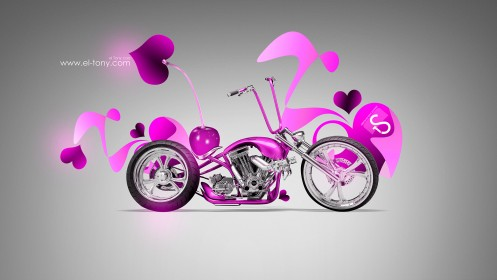 Cherry-Chopper-Mini-Moto-2014-Pink-Neon-HD-Wallpapers-design-by-Tony-Kokhan-[www.el-tony.com]