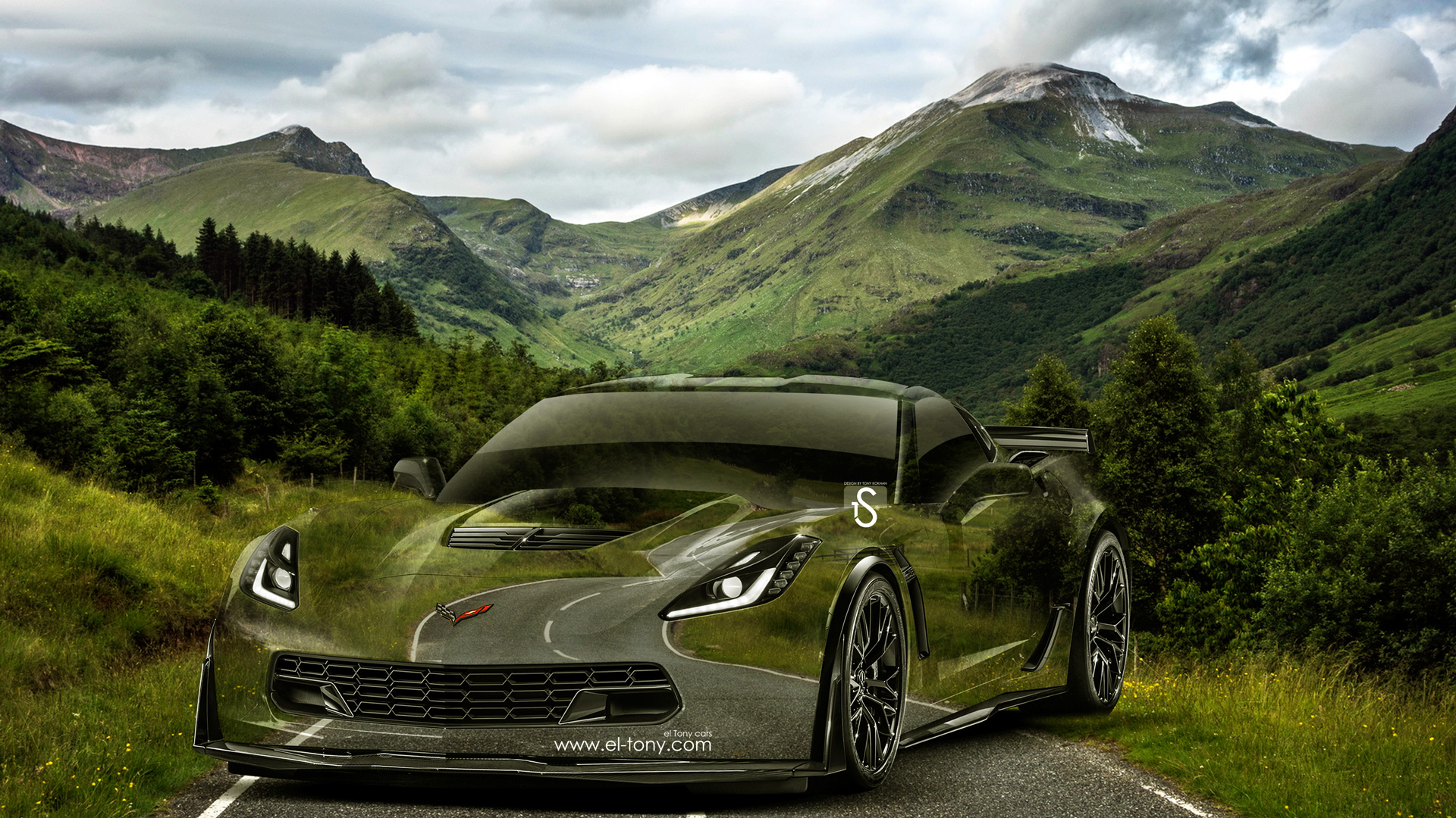 Chevrolet Corvette Z06 Crystal Nature Road Car 2014