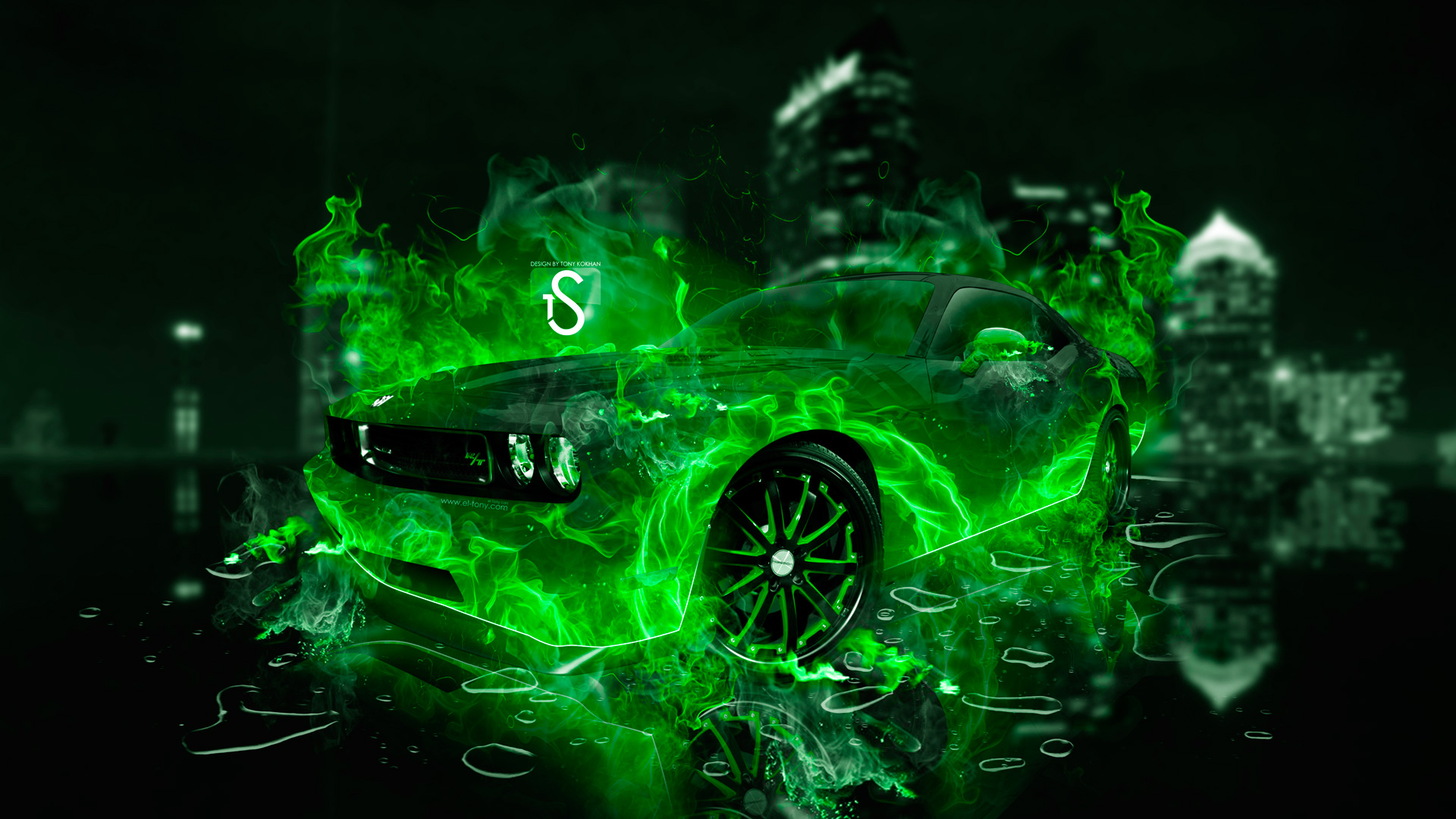 ... Dodge Challenger Green Fire City Car 2014 HD  ... Great Ideas