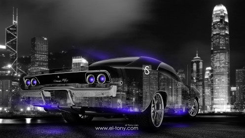 Dodge-Charger-RT-Muscle-Crystal-City-Car-2014-Blue-Neon-design-by-Tony-Kokhan-[www.el-tony.com]