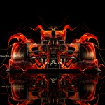 F1 Ferrari Front Fire Abstract Car 2014